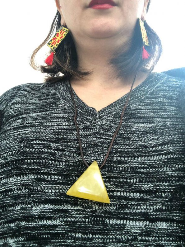 Triangle Resin Necklaces