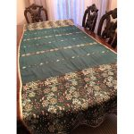 Chiffon Tablecloth Embroidered with Pearls