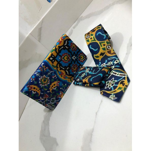 Traditional Solid Tie & Pocket Square Set With Matching Purse